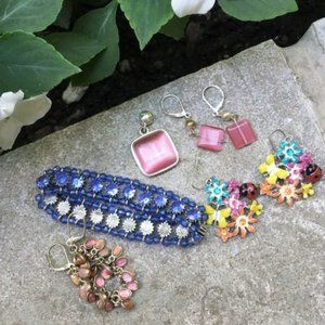 Pink and Blue Jewelry Lot / Bundle